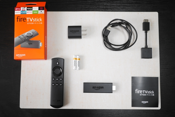 Amazon Fire TV Stick 内容物